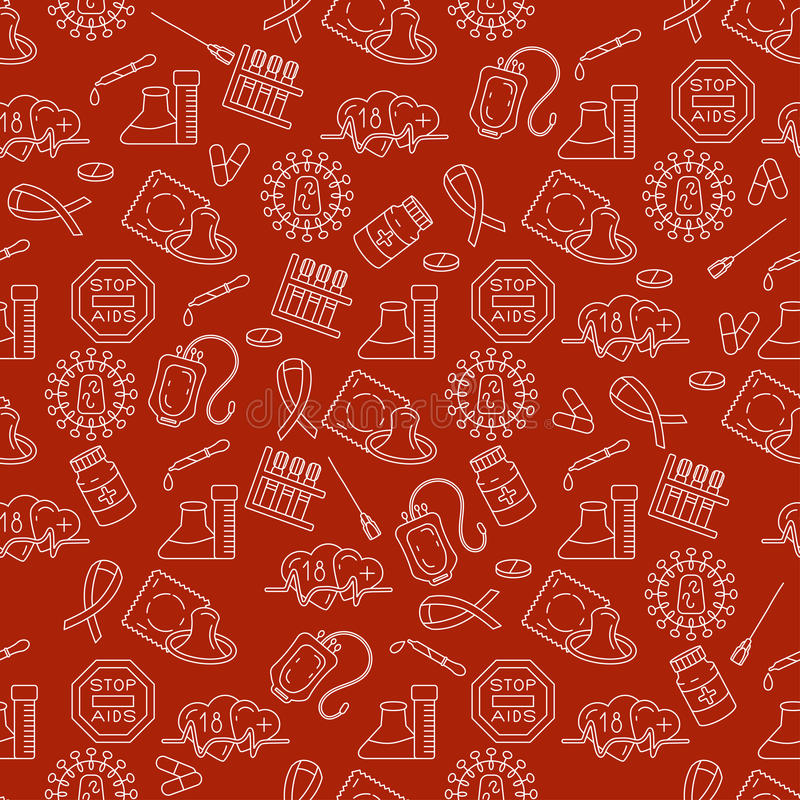 Welt-Aids-Tag-Konzept lizenzfreie abbildung
