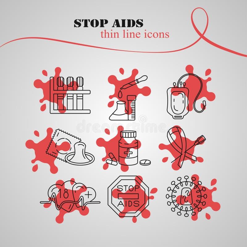 Welt-Aids-Tag-Konzept stock abbildung