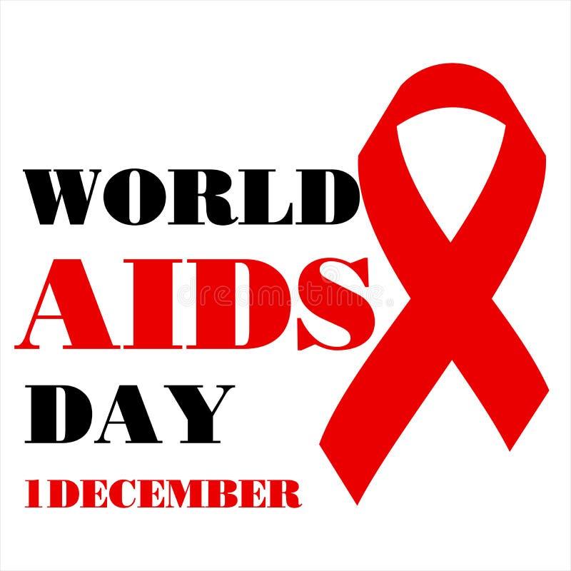 Welt-Aids-Tag-Konzept Auch im corel abgehobenen Betrag vektor abbildung