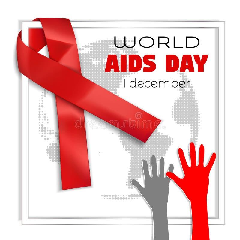 Welt-Aids-Tag-Konzepthintergrund, realistische Art vektor abbildung