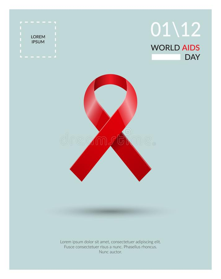 Welt-Aids-Tag-Konzeptplakat lizenzfreie abbildung