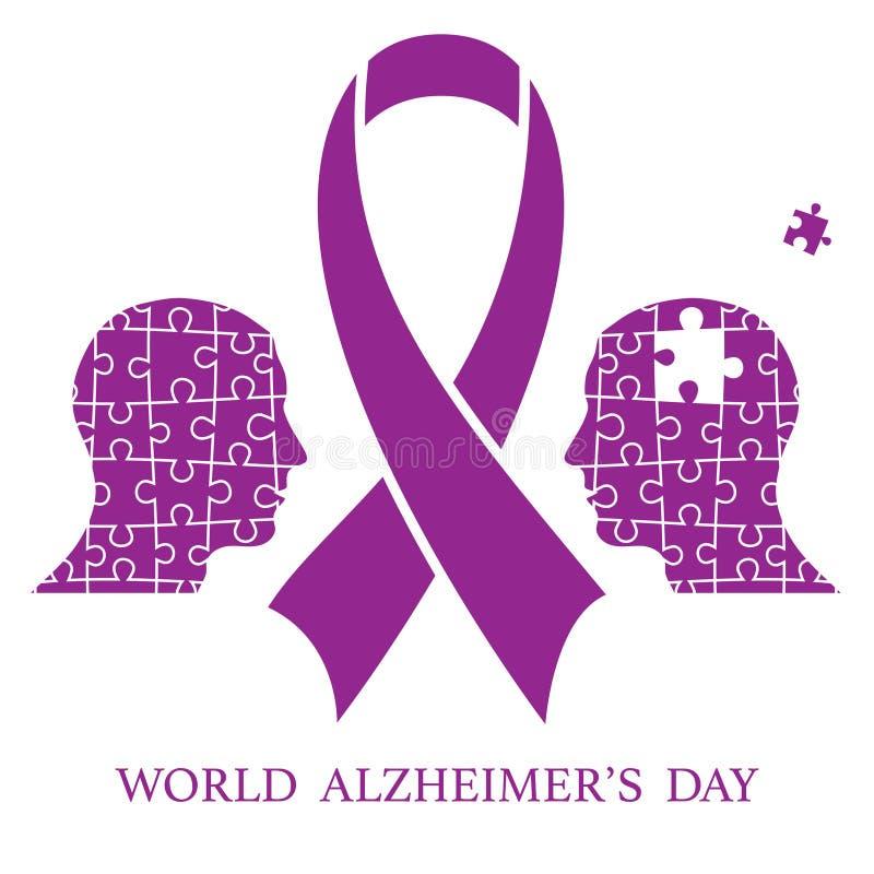 Welt-Alzheimer-Tag stock abbildung