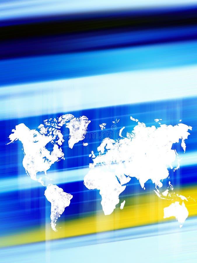 Welt angeschlossen lizenzfreie abbildung