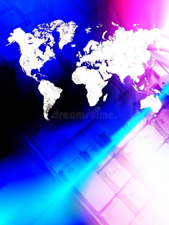 Welt angeschlossen stock abbildung