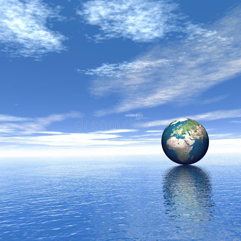 Welt auf dem Wasser vektor abbildung