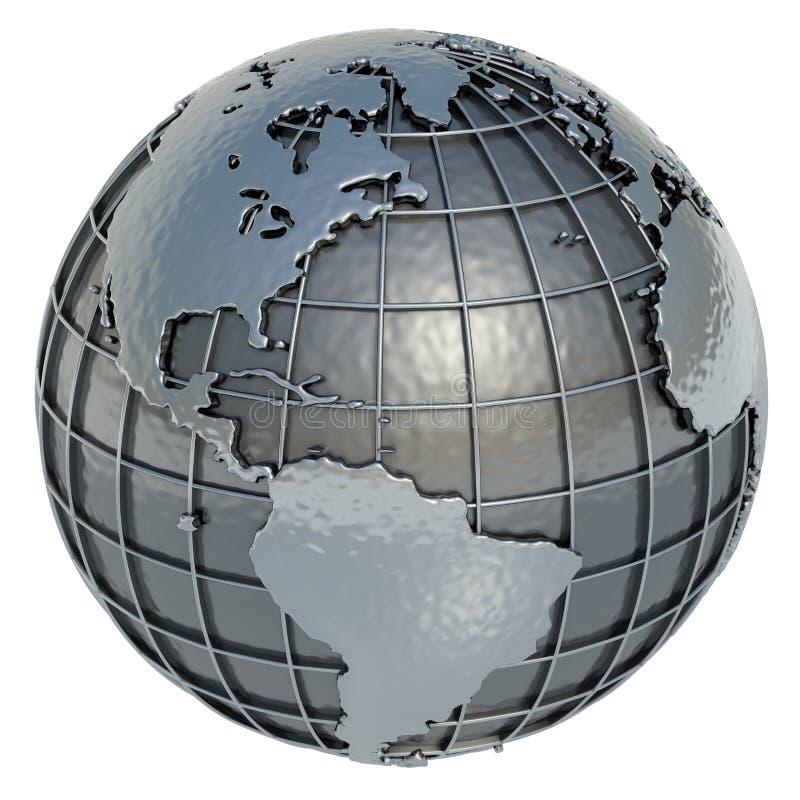 Welt (das Amerika) lizenzfreie abbildung