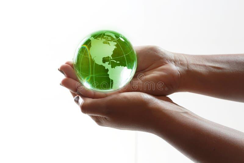 Welt in den Händen stockfotografie