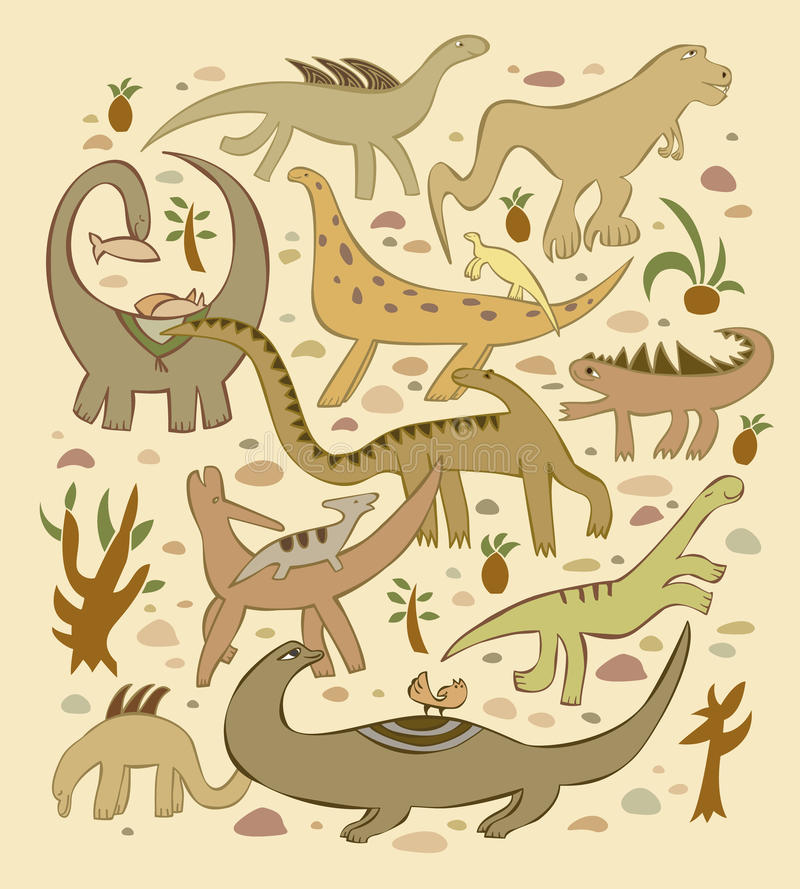 Welt der Dinosauriere stock abbildung