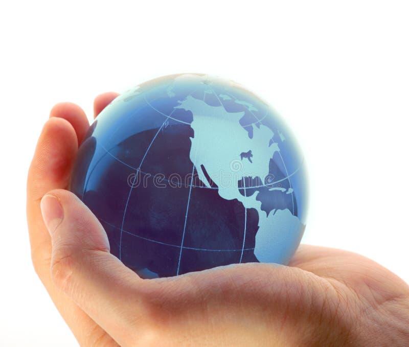 Welt in der Hand stockfotos