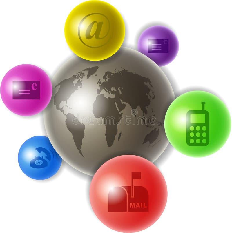 Welt der Kommunikation vektor abbildung