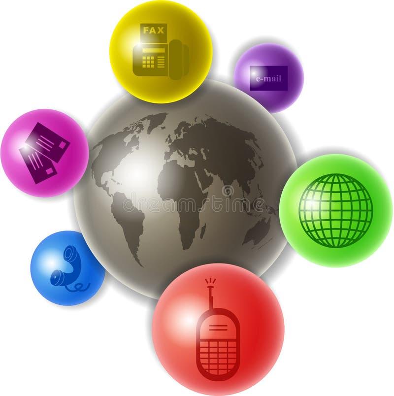 Welt der Kommunikation stock abbildung