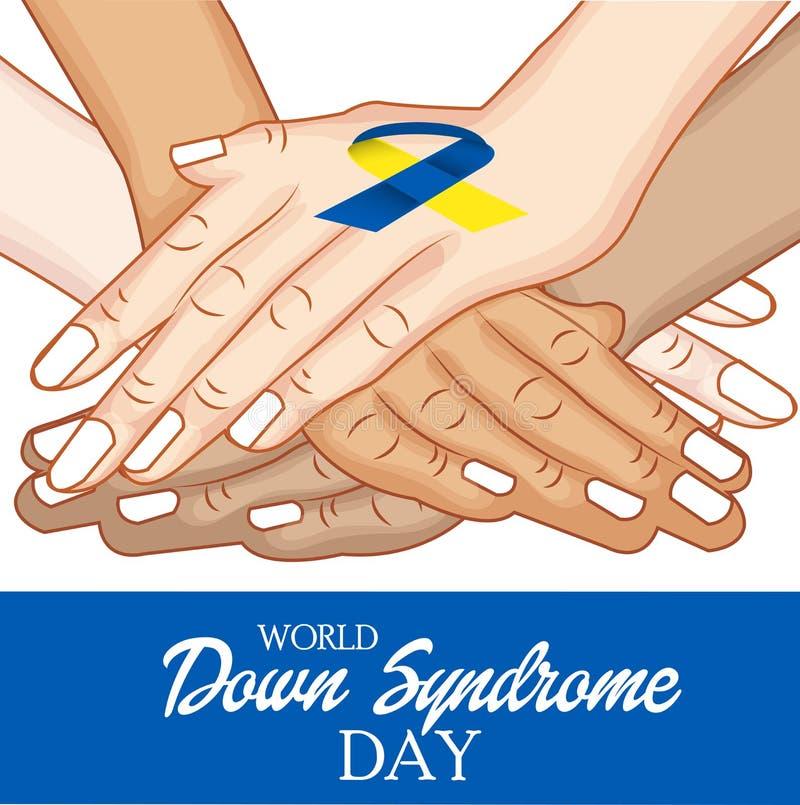 Welt-Down-Syndrom Tag stock abbildung