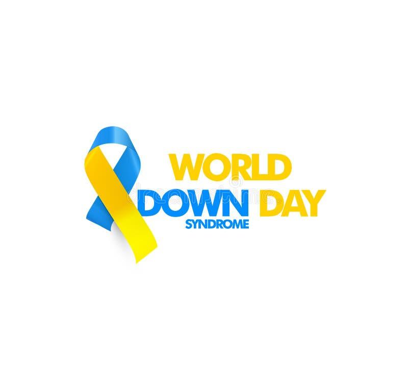 Welt-Down-Syndrom Tag, Chromosom der genetischen Störung 21, DS- oder DNS-Down-Syndrom-Vektorsymbol vektor abbildung