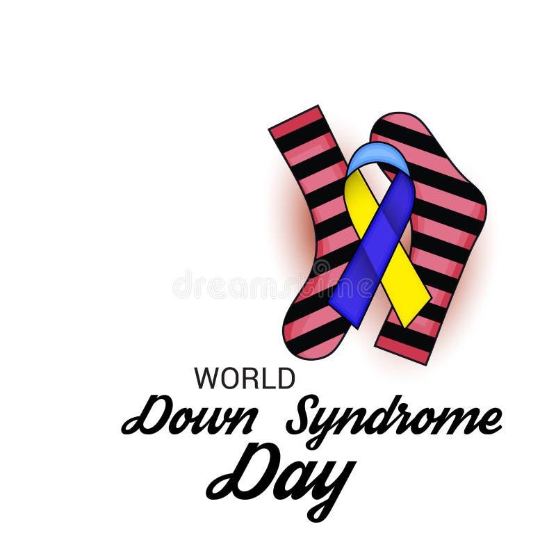 Welt-Down-Syndrom Tag lizenzfreie abbildung
