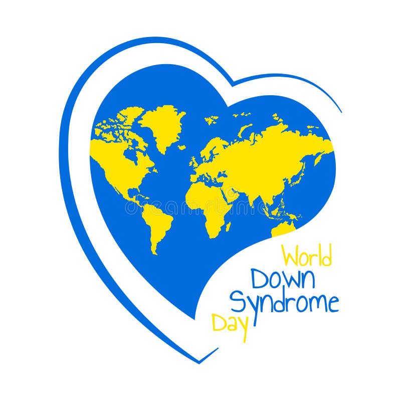 Welt-Down-Syndrom Tag vektor abbildung