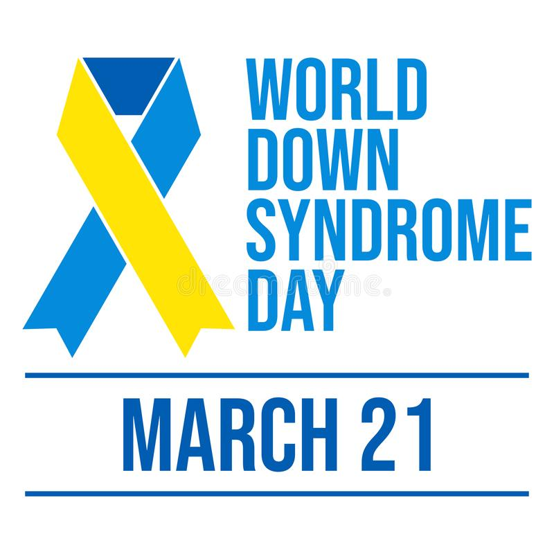 Welt-Down-Syndrom Tag - Vektor lizenzfreie abbildung