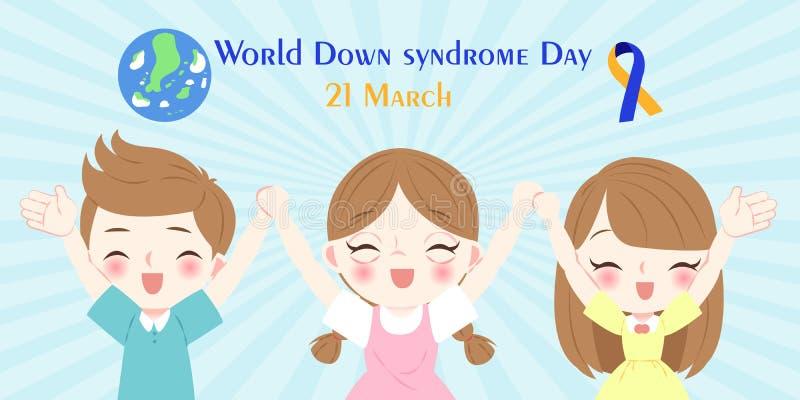Welt-Down-Syndrom Tageskonzept vektor abbildung