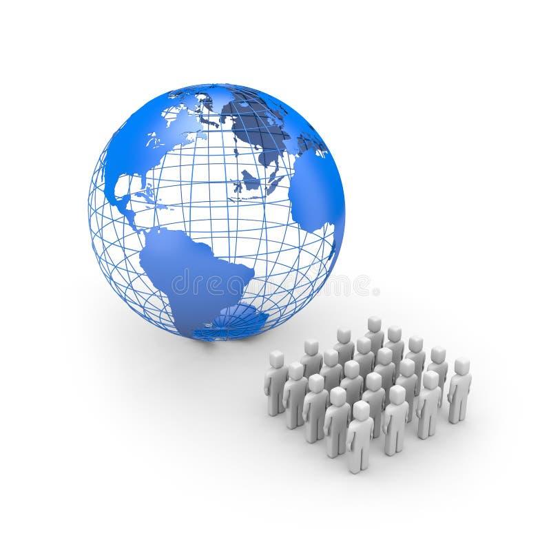 Welt für Leute lizenzfreie abbildung