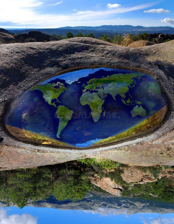 Welt gedreht lizenzfreie stockfotos