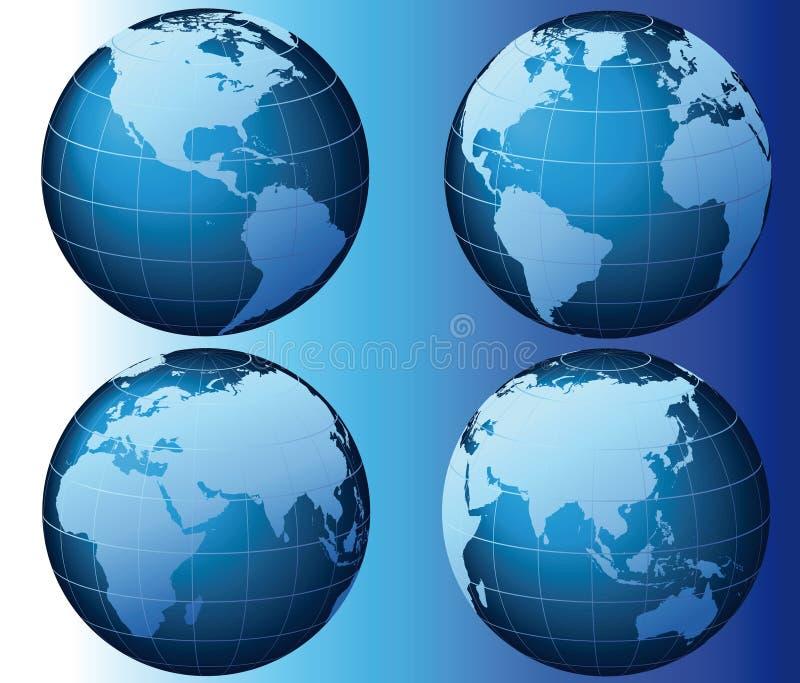 Welt - globale Set-Serie - Vektor lizenzfreie abbildung