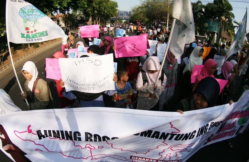 Welt-hijab Tag in Indonesien stockfotografie