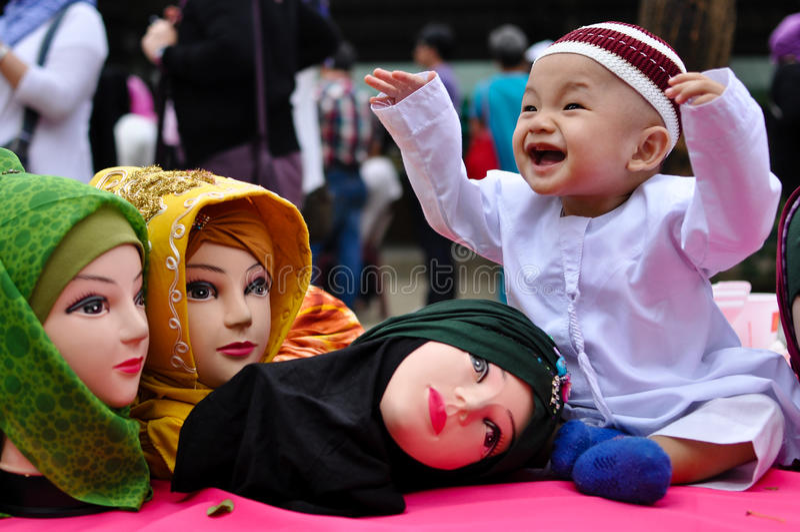 Welt-Hijab-Tag in Manila stockfoto