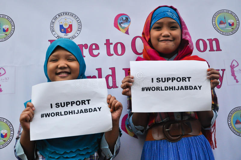 Welt-Hijab-Tag in Manila lizenzfreie stockbilder