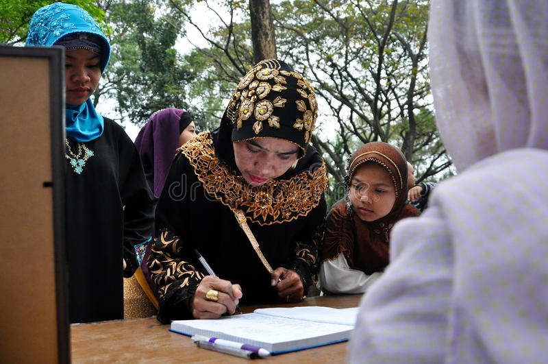 Welt-Hijab-Tag in Manila lizenzfreies stockbild