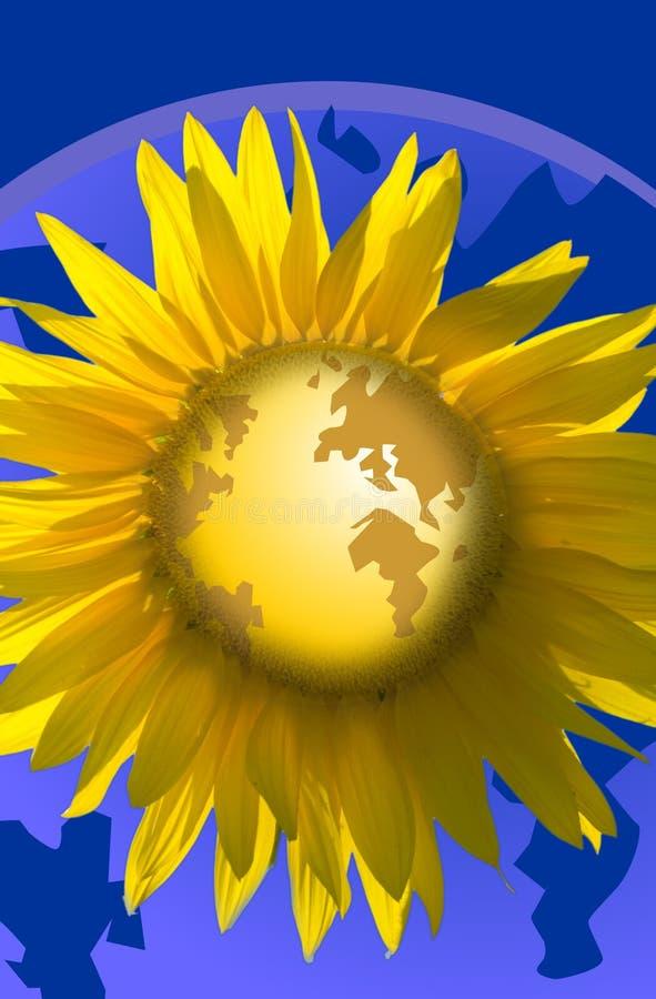 Welt mögen eine Blume stock abbildung