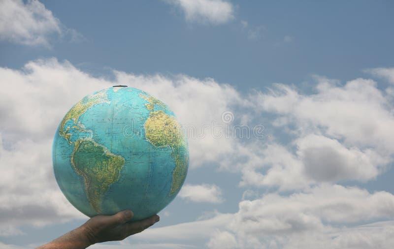 Welt in meiner Hand stockfotografie