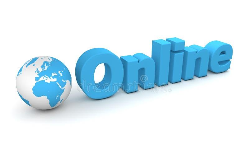 Welt online lizenzfreie abbildung