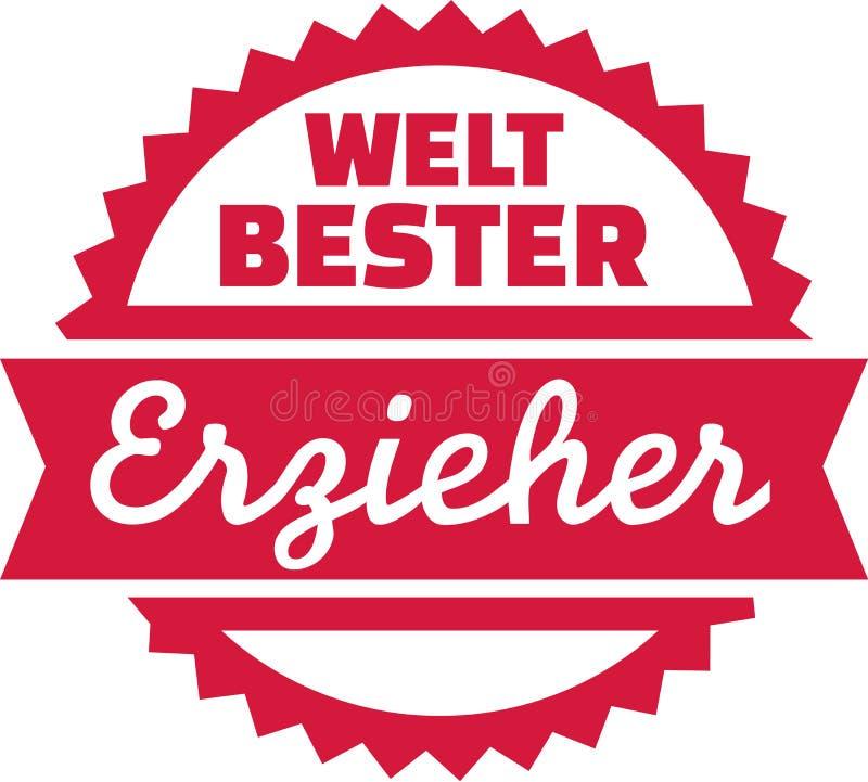 Welt-` s bester Erzieher - Deutscher lizenzfreie abbildung