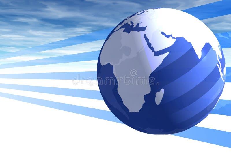 Welt und Himmel lizenzfreie abbildung