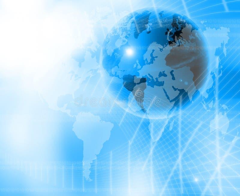 Welt und Technologiehintergrund lizenzfreie abbildung