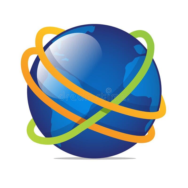 Welt voll der Technologieillustrationskunst stock abbildung
