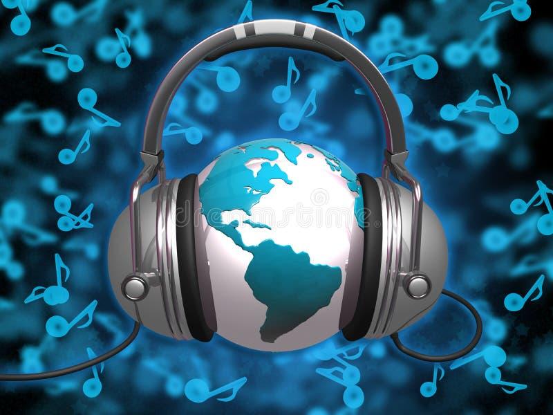 Welt von Musik lizenzfreie abbildung