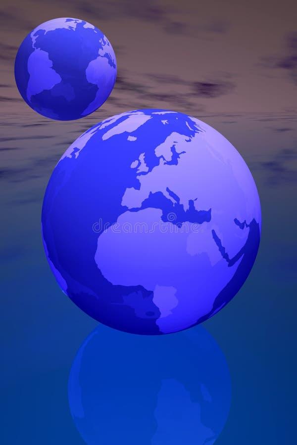 Welt zwei lizenzfreie abbildung