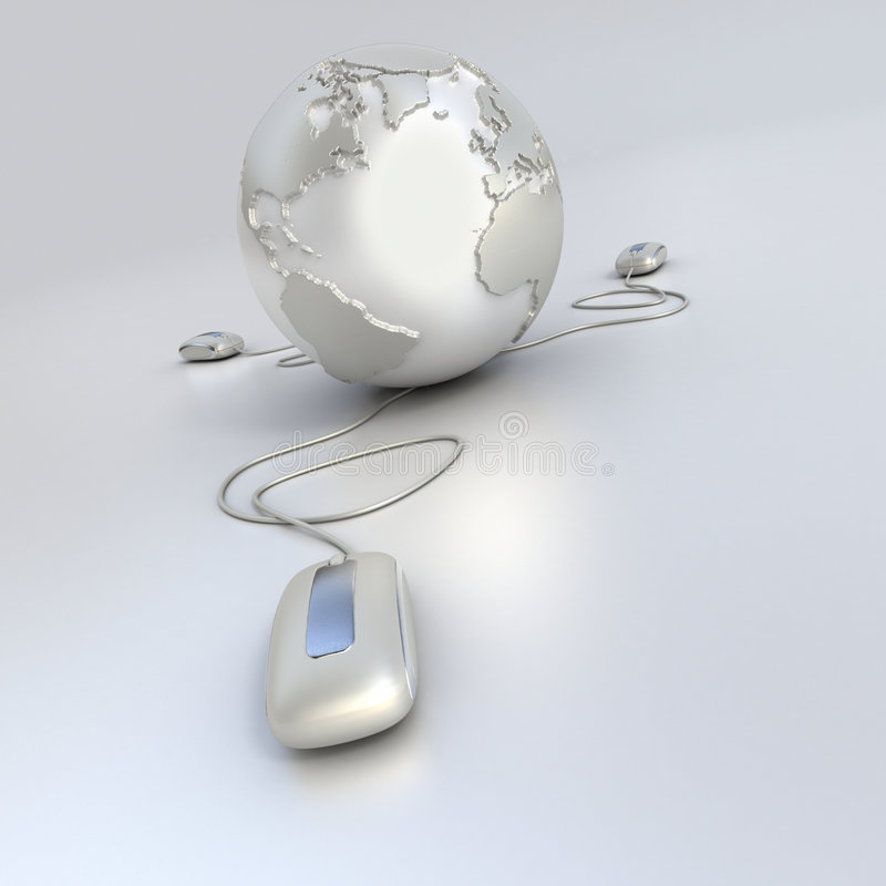 Weltanschluß im Silber vektor abbildung