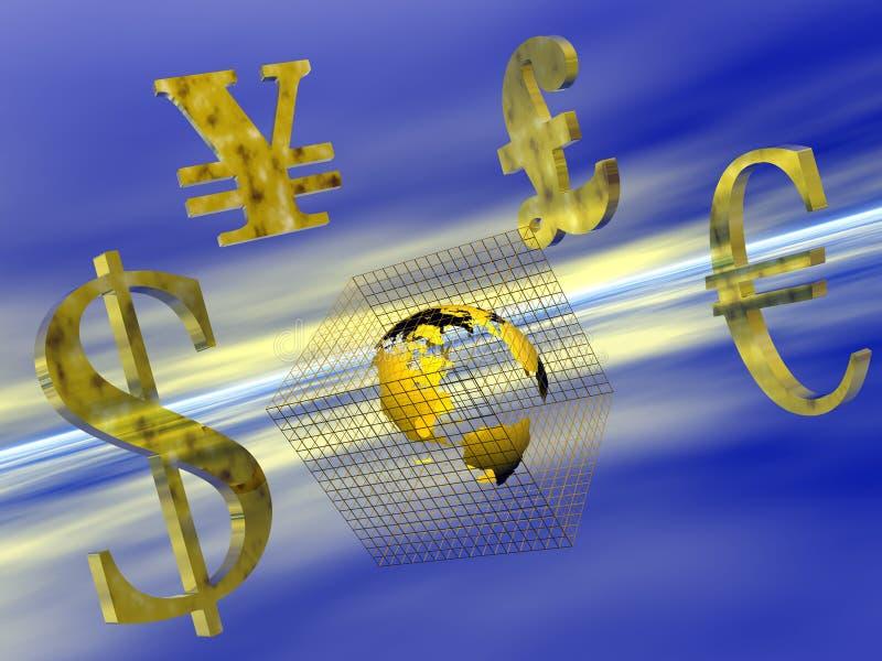 Weltbargeld. vektor abbildung