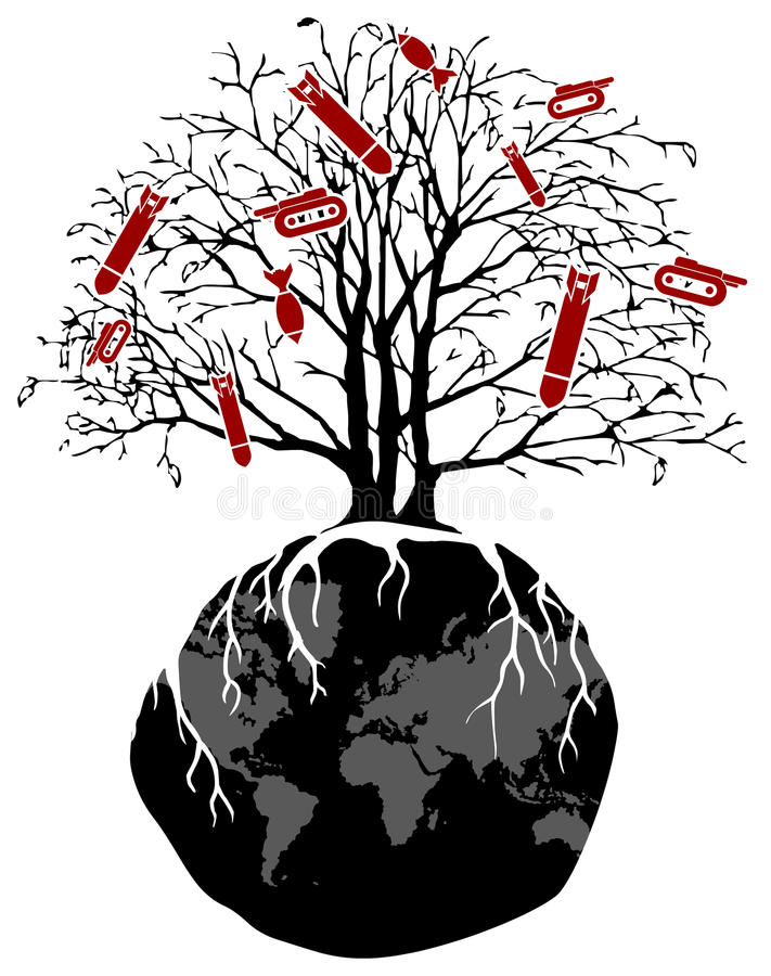 Weltbaumkrieg lizenzfreie abbildung