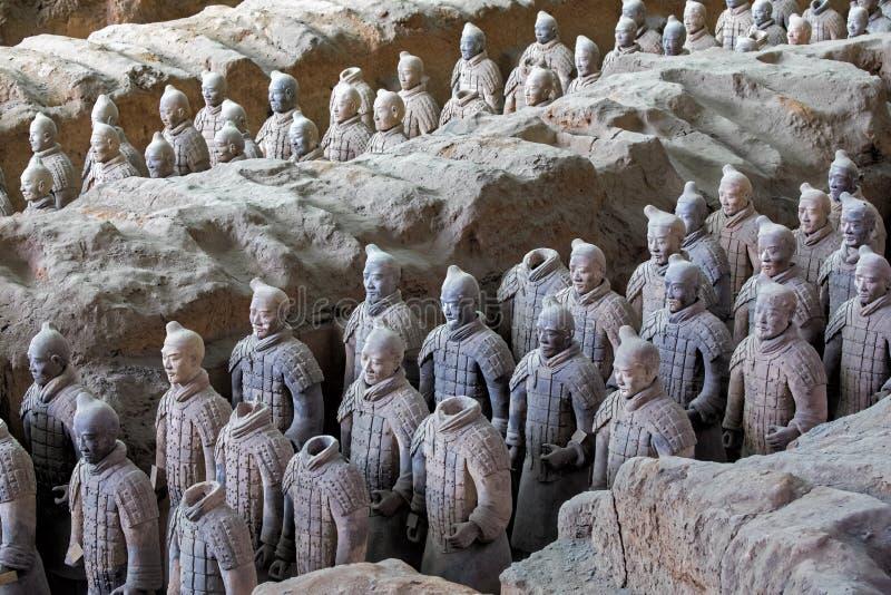 Weltberühmte Terrakotta-Armee gelegen in Xian China lizenzfreie stockfotografie