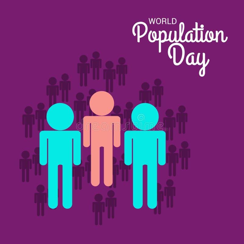 Weltbevölkerung Tag stock abbildung