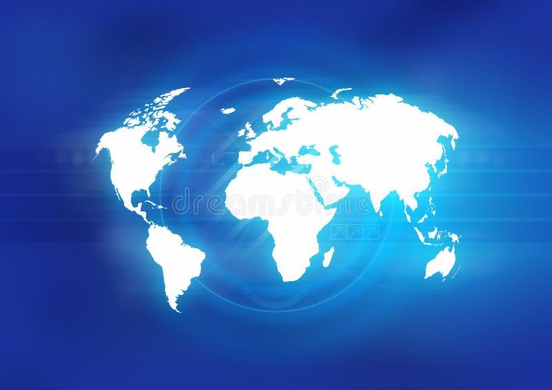 Weltblau lizenzfreie abbildung