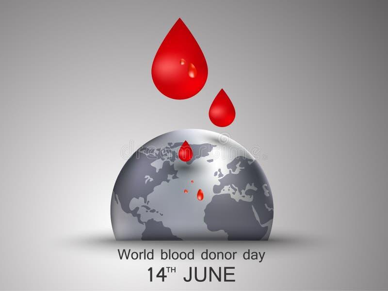 Weltblutspend-Tag vektor abbildung