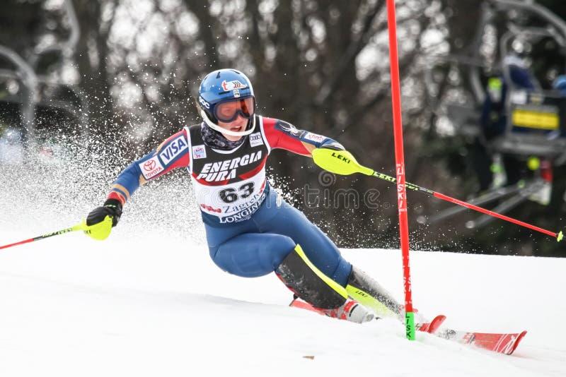 Weltcup Audis FIS - Damen-Slalom stockfoto
