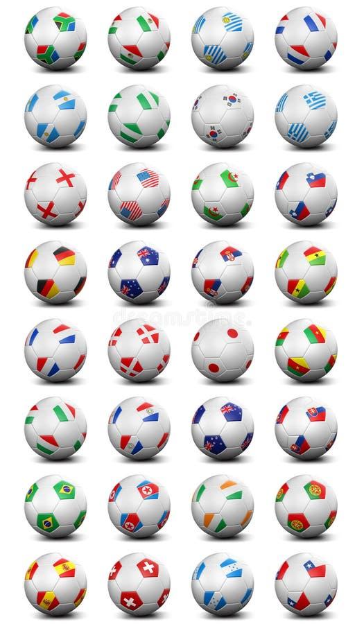 Weltcupfußballkugeln vektor abbildung