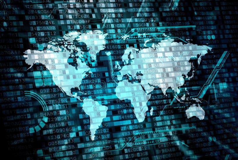 Weltdatenverarbeitungskonzept stockfotos