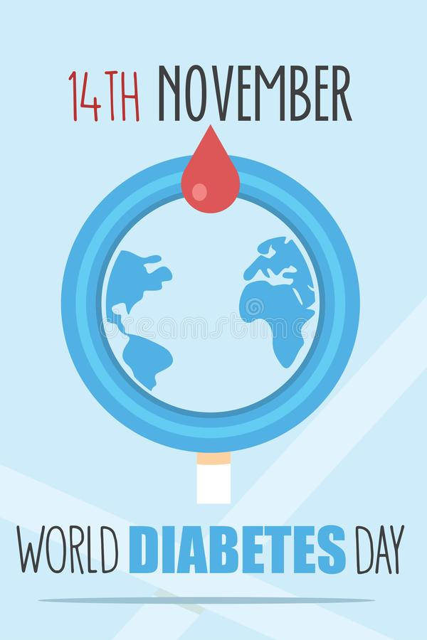 Weltdiabetes-Tagesplakat vektor abbildung
