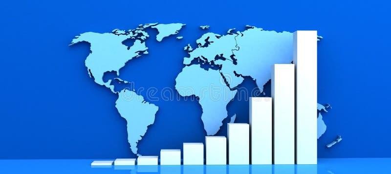 Weltdiagramm stock abbildung