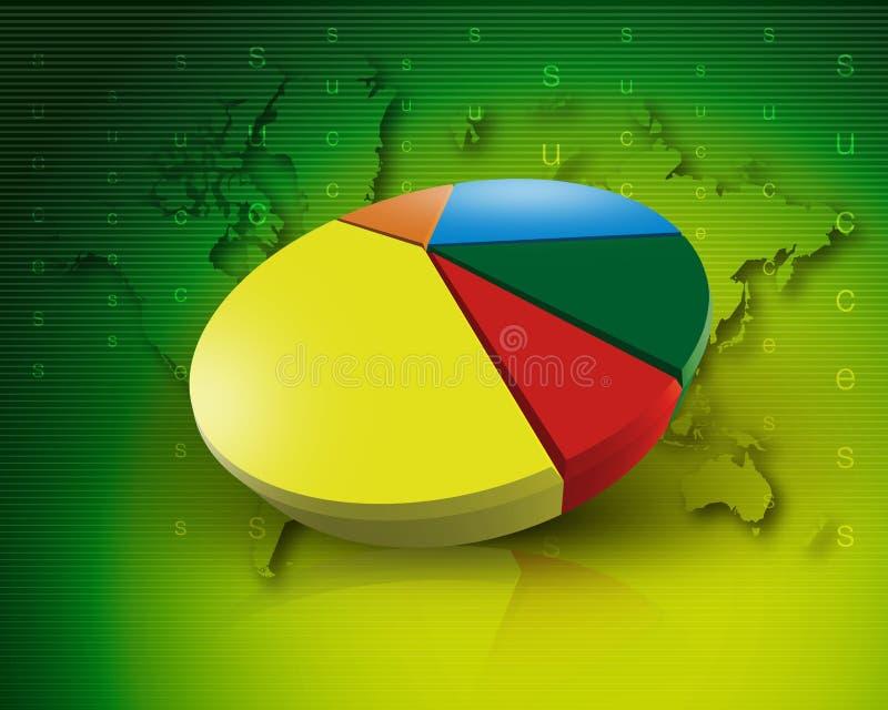 Weltdiagrammgeschäft weltweit grünen lizenzfreie abbildung